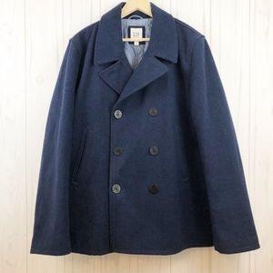 Gap Men's Wool Blend Blue Peacoat
